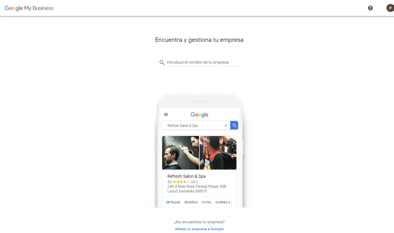 Creacion de la empresa google business